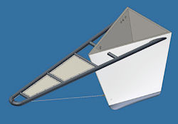 Bowsprit design for a sixty foot yacht.
